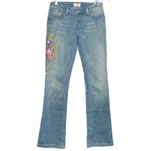 Antik Denim Hand painted Hand-stitched boho Jeans